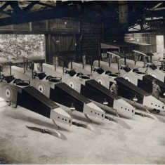 DH9 bombers during World War One passed and ready for delivery from the Alliance Aeroplane Company Ltd, Cambridge Grove.   Hammersmith and Fulham Archives