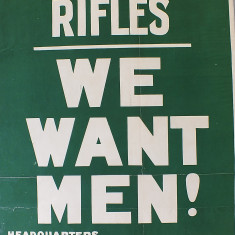 London Irish Rifles recruitment poster   Kensington and Chelsea Local Studies