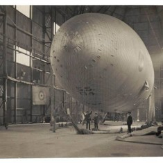 Sea Scout T14, the last blimp to be made at Wormwood Scrubs during World War One.   Hammersmith and Fulham Archives