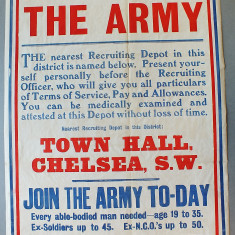 World War One Posters   Kensington and Chelsea Local Studies